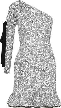 Rebecca Vallance Sofia One-shoulder Ruffled Guipure Lace Mini Dress