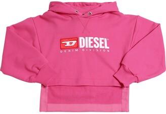 Diesel Logo Patch Cotton Sweatshirt