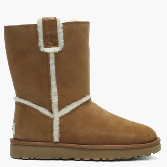 UGG Classic Short Spill Seam Chestnut Twinface Ankle Boots
