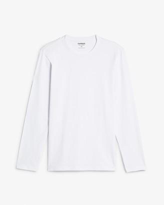 Express Slim Stretch Long Sleeve Crew Neck T-Shirt