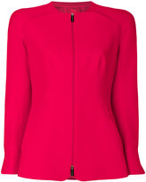 Giorgio Armani structured zipped blazer - women - Silk - 42