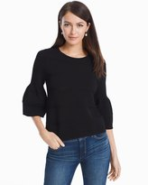 White House Black Market Drama Sleeve Pointelle Sweater