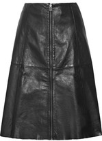 Flared Leather Skirt - ShopStyle