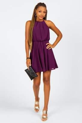 francesca's Nahla Flawless Solid Dress - Purple