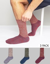 Asos Cable Boot Socks With Long Rib 3 Pack