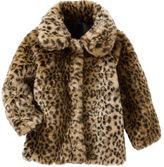 Osh Kosh OshKosh Faux Fur Leopard Print Midweight Jacket