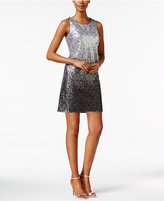 Vince Camuto Ombre Sequined Sheath Dress