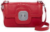 Longchamp Gatsby Croc Embossed Leather Shoulder Bag