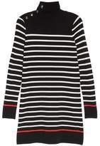Eliza J Mockneck Stripe Shift Dress