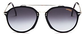 Carrera Men's Brow Bar Round Sunglasses, 52mm