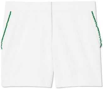 Tory Burch Tech Twill Ruffle Shorts