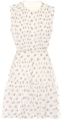 Chloé Floral silk-georgette minidress