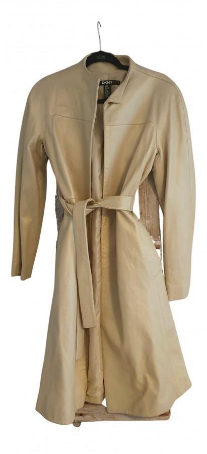DKNY Gold Leather Trench coats