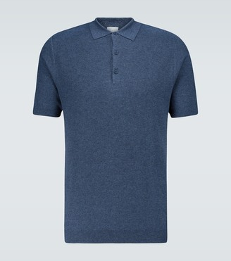 Sunspel Fine Texture knitted polo shirt