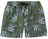 Enlist Mid-Length Printed Swim Shorts