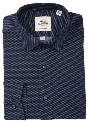 Ben Sherman Dot Printed Oxford Tailored Slim Fit Dress Shirt