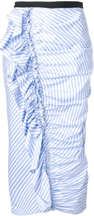 Antonio Marras striped frill pencil skirt