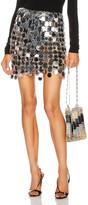 Paco Rabanne Pastille Mini Skirt in Silver   FWRD
