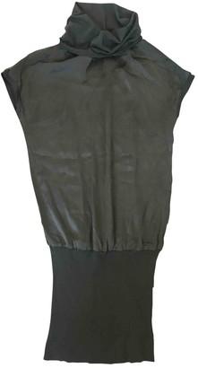 P.A.R.O.S.H. Khaki Silk Top for Women