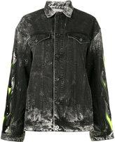 Filles a papa Renegade embellished denim jacket - women - Cotton - 0