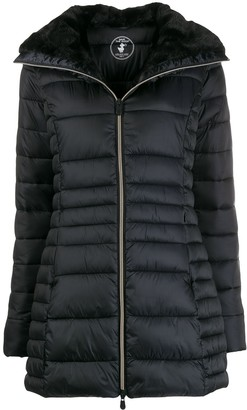 Save The Duck faux-fur lined padded jacket