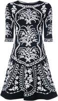 Oscar de la Renta floral embroidered mini dress