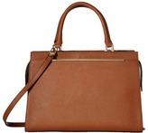 Calvin Klein Cindy Bar Trim Saffiano Satchel Satchel Handbags