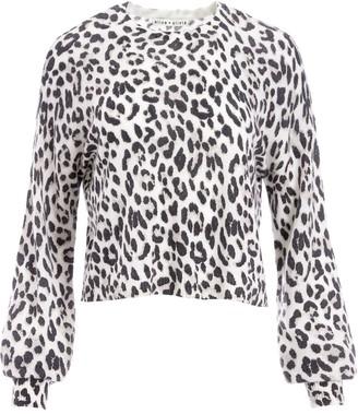 Alice + Olivia Leopard Print Cashmere Jumper