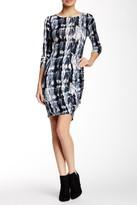 Loveappella Printed Long Sleeve Mini Dress