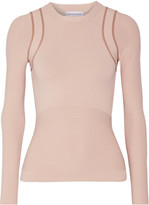 Narciso Rodriguez Stretch-knit Top - Beige