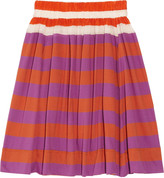 Sonia Rykiel Sonia by Striped cotton and silk skirt