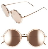 Linda Farrow Women's 51Mm Round Sunglasses - Ash/ Rose Gold