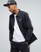Vans Van Quilted Coach Jacket In Black VA2WGBBLK