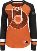 Majestic Women's Philadelphia Flyers Hip Check Long Sleeve T-Shirt
