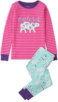Hatley Children's Bearly Awake Appliqué Pyjamas, Turquoise