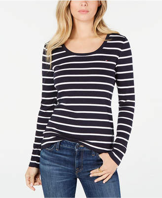 Tommy Hilfiger Cotton Striped Long-Sleeve T-Shirt