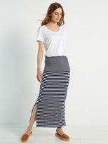 White Stuff Agra stripe jersey maxi skirt