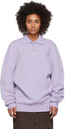 Nanushka Purple Felted Wool Oliver Polo