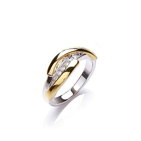 House of Fraser Buckley London Two tone strand ring