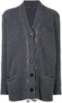 Alexander McQueen cashmere double zip cardigan - women - Cashmere - S