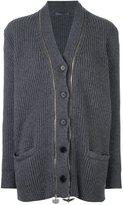Alexander McQueen cashmere double zip cardigan