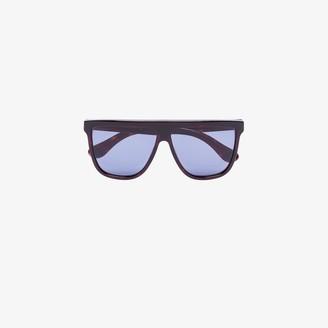 Gucci Blue Tortoiseshell Square Frame Sunglasses