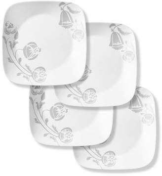 Corelle Boutique 10.5 Inch Dinner Plate Night Blooms Grey 4 Pack