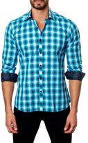 Jared Lang Cotton Plaid Fade Print Sportshirt