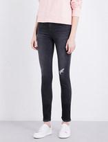 Calvin Klein Released-hem skinny high-rise jeans