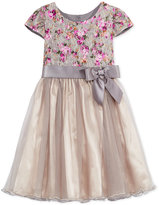 Bonnie Jean Floral Bodice Party Dress, Little Girls (4-6X)