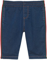 Gucci Kids Baby jersey denim pant with Web