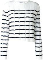 Alexander Wang distressed knit striped jumper