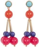 Trina Turk Multicolor Bead Cluster Drop Earrings