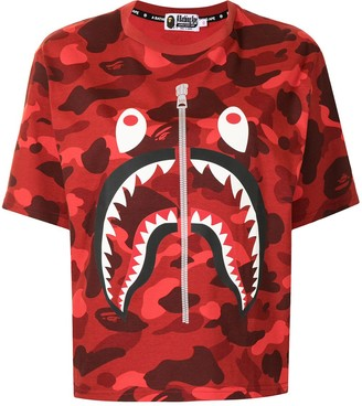 A Bathing Ape shark-print cotton T-Shirt